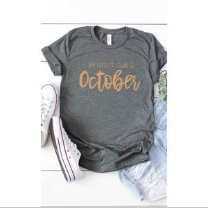 🧡🎃Favorite Color is October Graphic Tee
